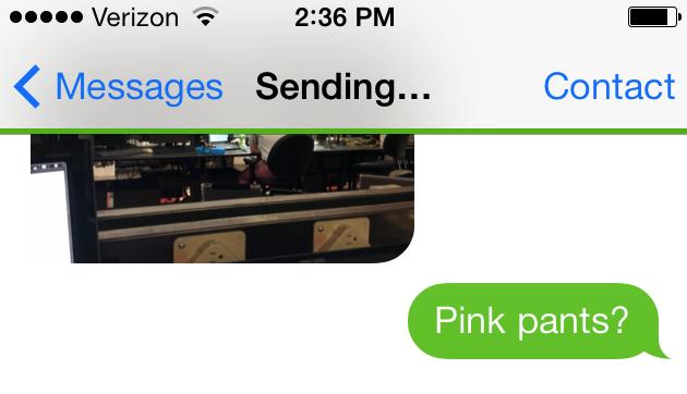 iMessage sending