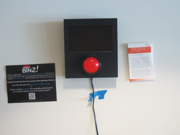 BTNZ! project uses buttons and screens to promote social interaction.