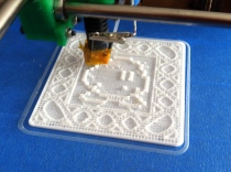 Noisebridge Ultimaker coaster 3D print