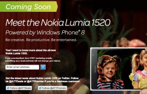 Lumia 1520 att