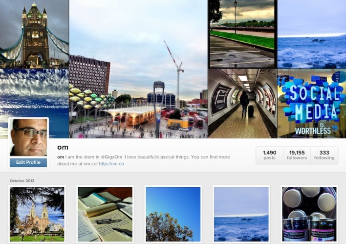Instagram: The online photo & video-sharing service bought by Facebook.