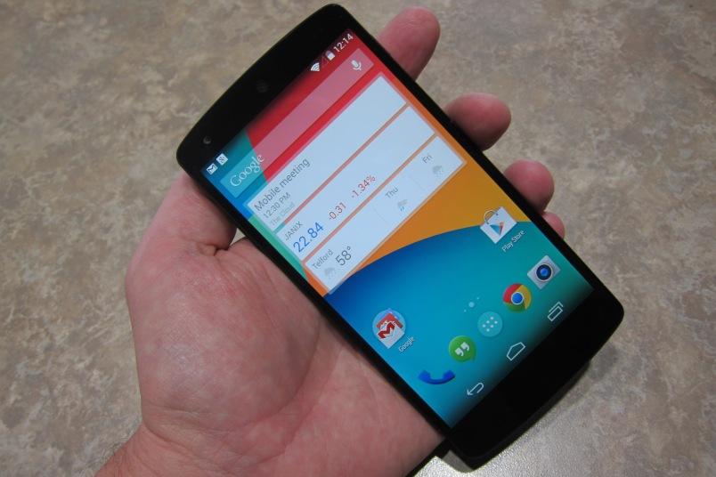 Nexus 5 front home