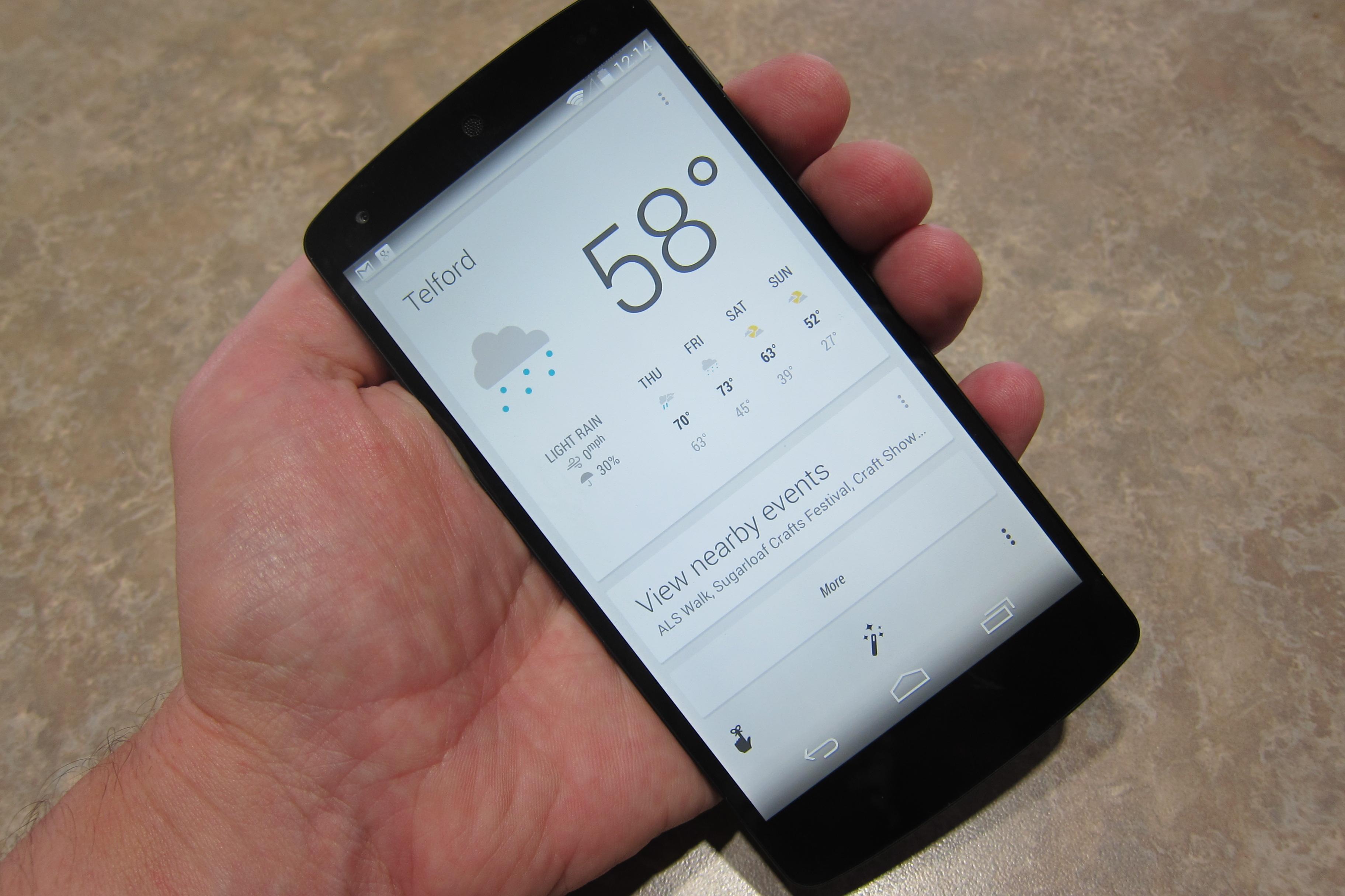 Nexus 5 Google Now