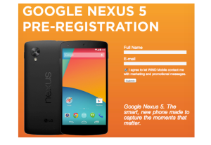 Nexus 5 pre registration