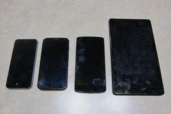 Nexus 5 size compare