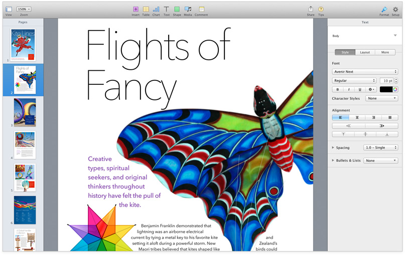 Apple iWork 2013 Pages