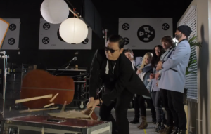 psy smashes guitar