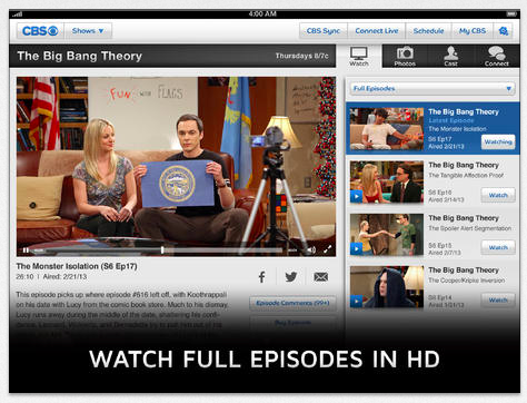 CBS ipad app