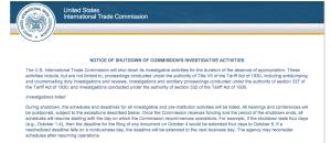 screen shot of govt' shutdown