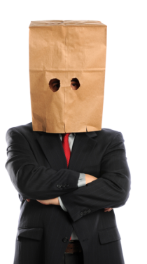 anonymous, bag over head
