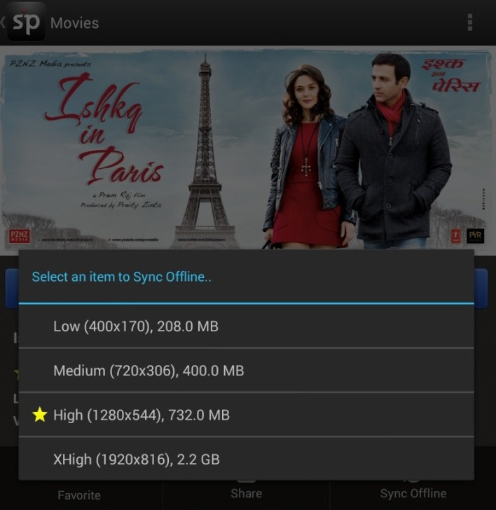 Spuuls new Android app allows offline viewing - and lets users decide which file size their internet connection supports.