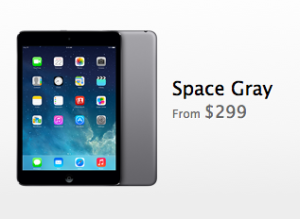 Space Gray iPad mini