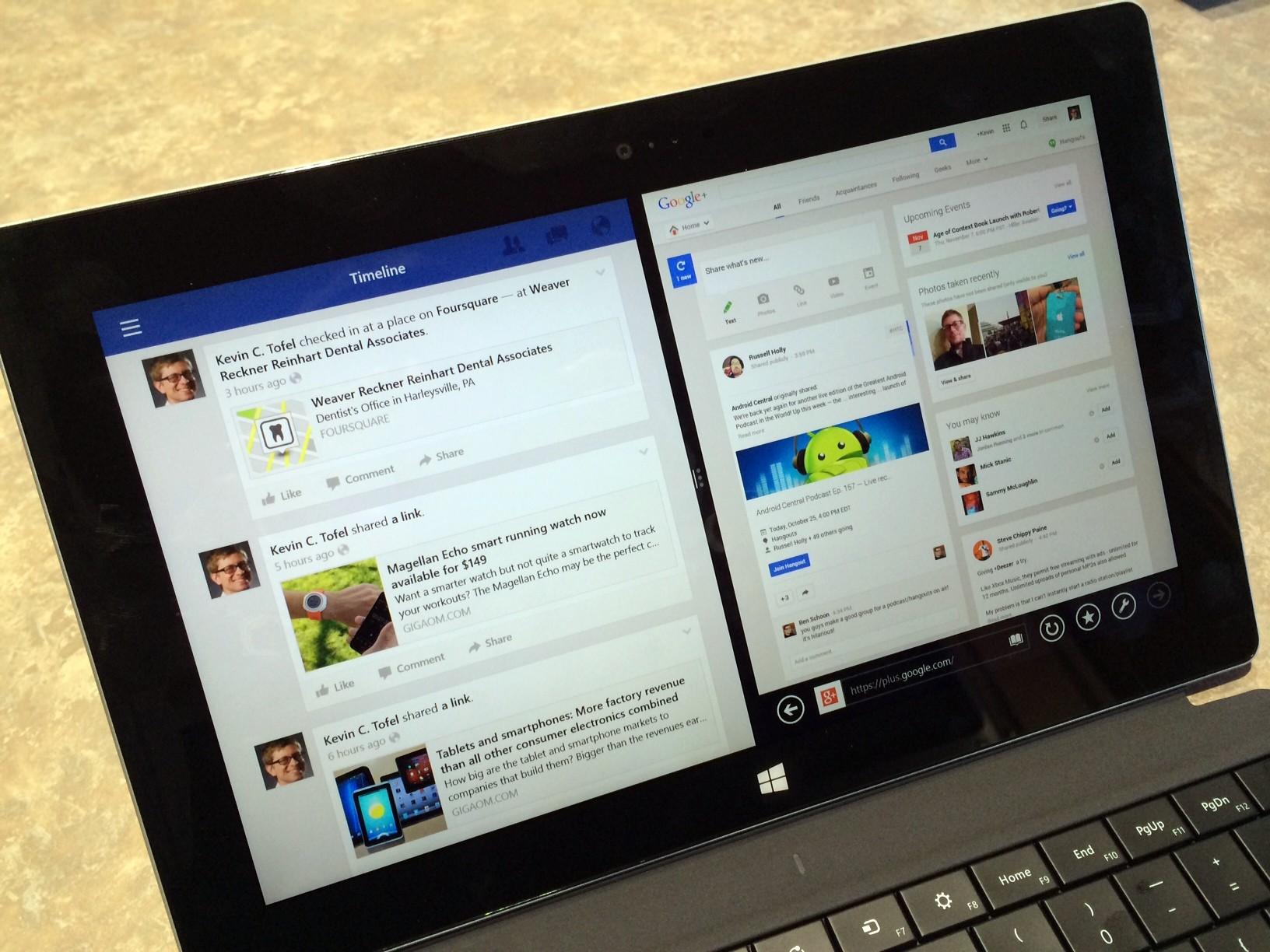 Surface 2 multitasking