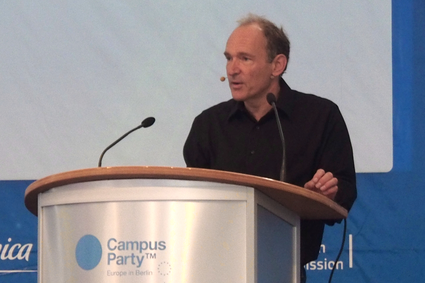 Tim Berners-Lee, speaking at a Telefonica Campus Party event in Berlin in 2013
