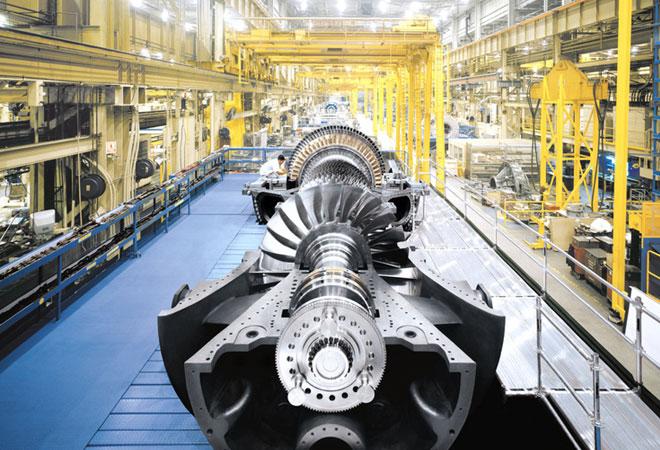 A heavy duty gas turbine.