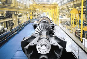 A heavy duty gas turbine.