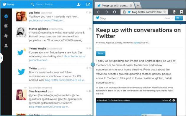 twitter 2 screens