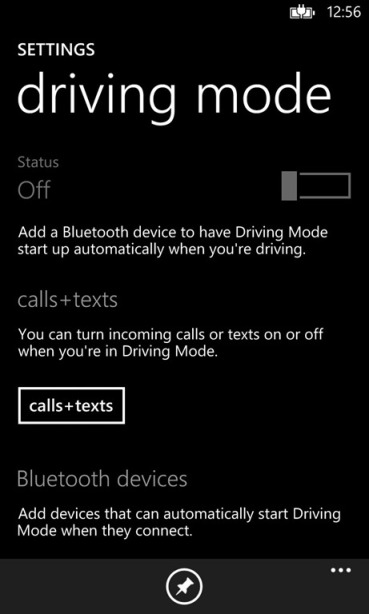 windows phone driving mode
