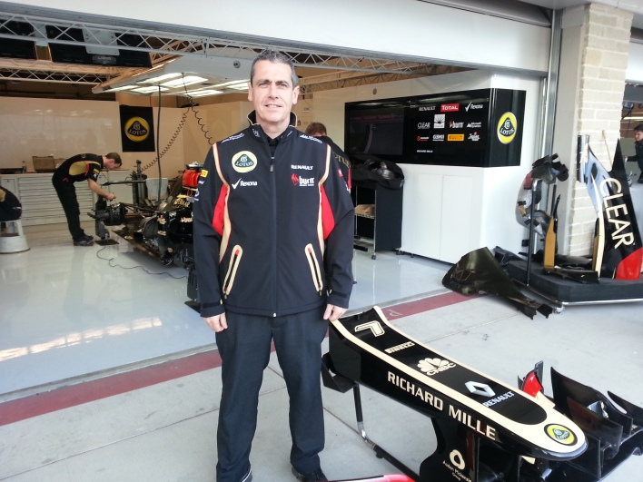 Graeme Hackland, the chief information officer of Lotus F1 team.