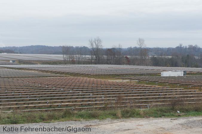 Apple's second solar farm in Conover, North Carolina