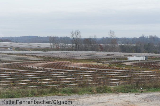 Apple's second solar farm in Conover, North Carolina