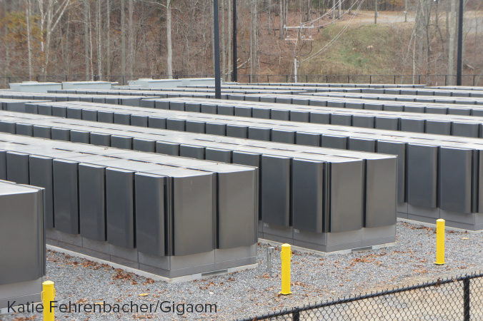 Apple's fuel cell farm next to its data center in Maiden, North Carolina