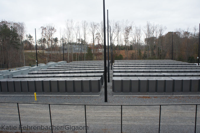 Apple's fuel cell farm in Maiden, it has a total output of 10 MW
