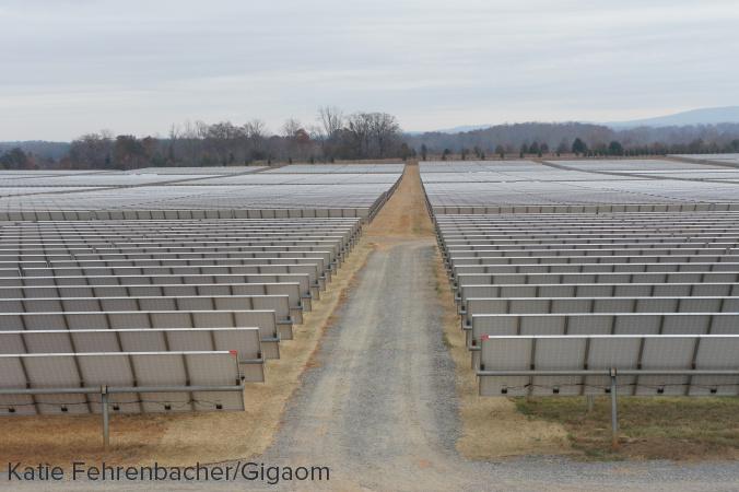 Apple's solar farm next to its data center in Maiden, North Carolina