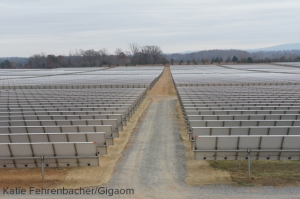 Apple's solar farm next to its data center in Maiden, North Carolina