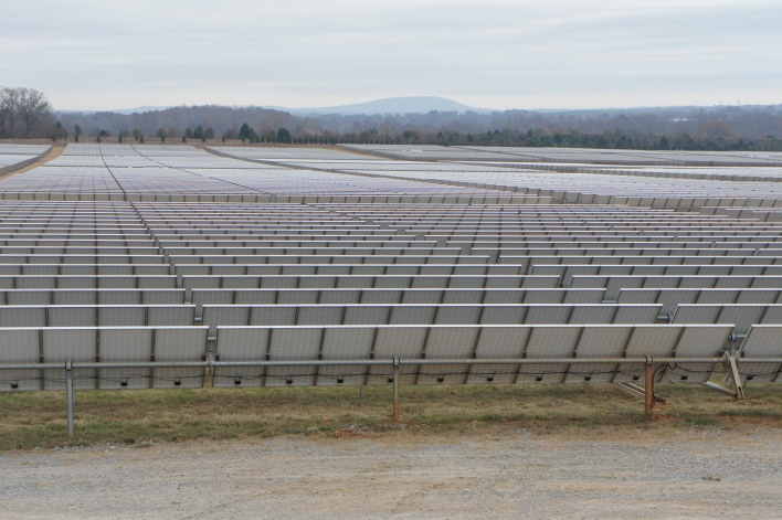 Apple's solar power farm in North Carolina  stretches for acres.