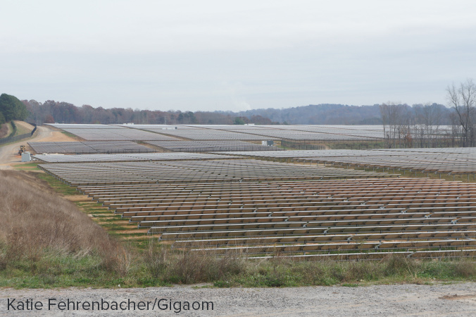 Apple's second solar farm about 15 miles from its data center in North Carolina