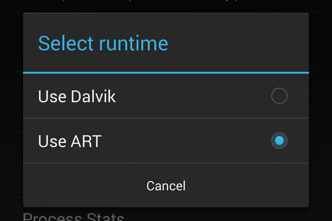 ART and Dalvik