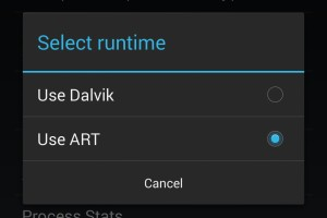 ART and Dalvik