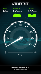 AT&T's 4G LTE network didn't have a great day, though I usually seem it perform much faster.