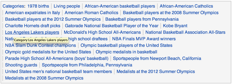 Kobe Bryant related categories