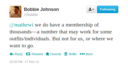 Bobbie Johnson tweet