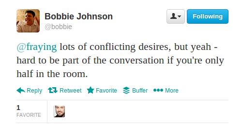 Bobbie Johnson tweet1