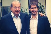 Carlos Slim and Moshe Hogeg