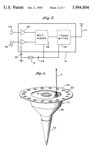 A patent filed in 1971 and granted in 1976 put vibration sensors into radio darts that could be dropped from aircraft.