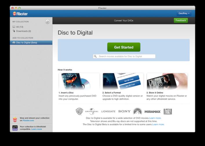 Flixster Disc to Digital