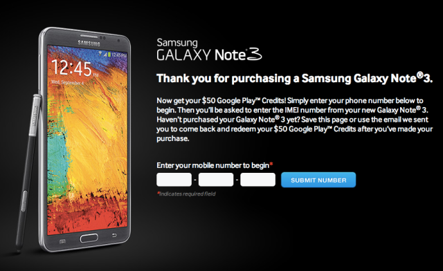 Galaxy Note 3 promo