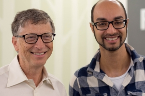 Bill Gates and ResearchGate CEO Ijad Madisch