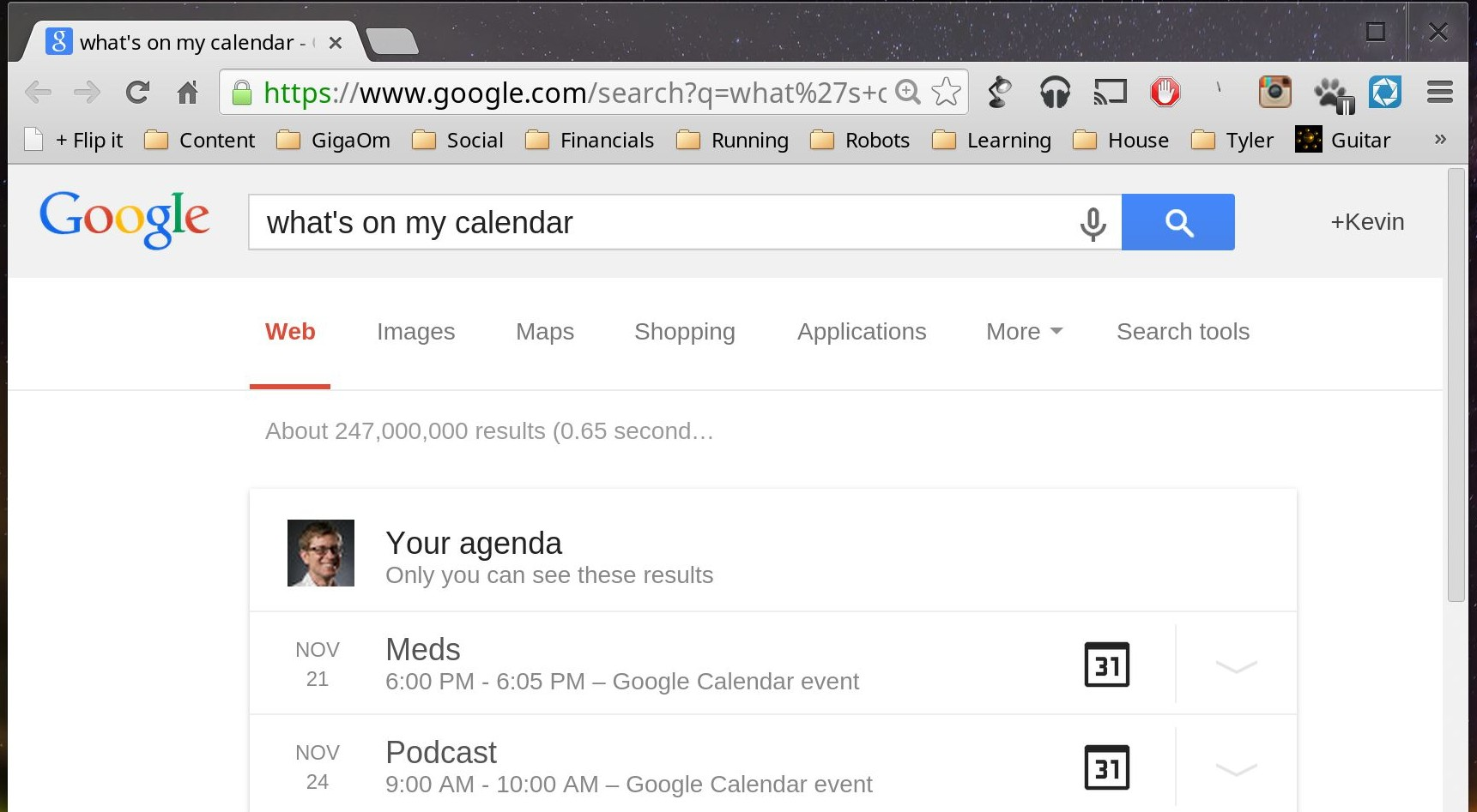google now cal