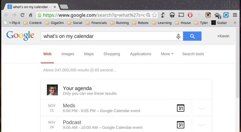google now cal