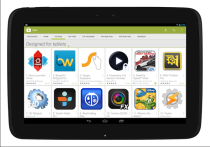 Google Play tablet view