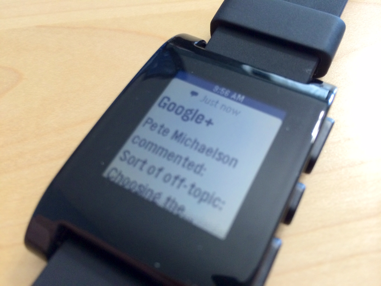 google plus on pebble
