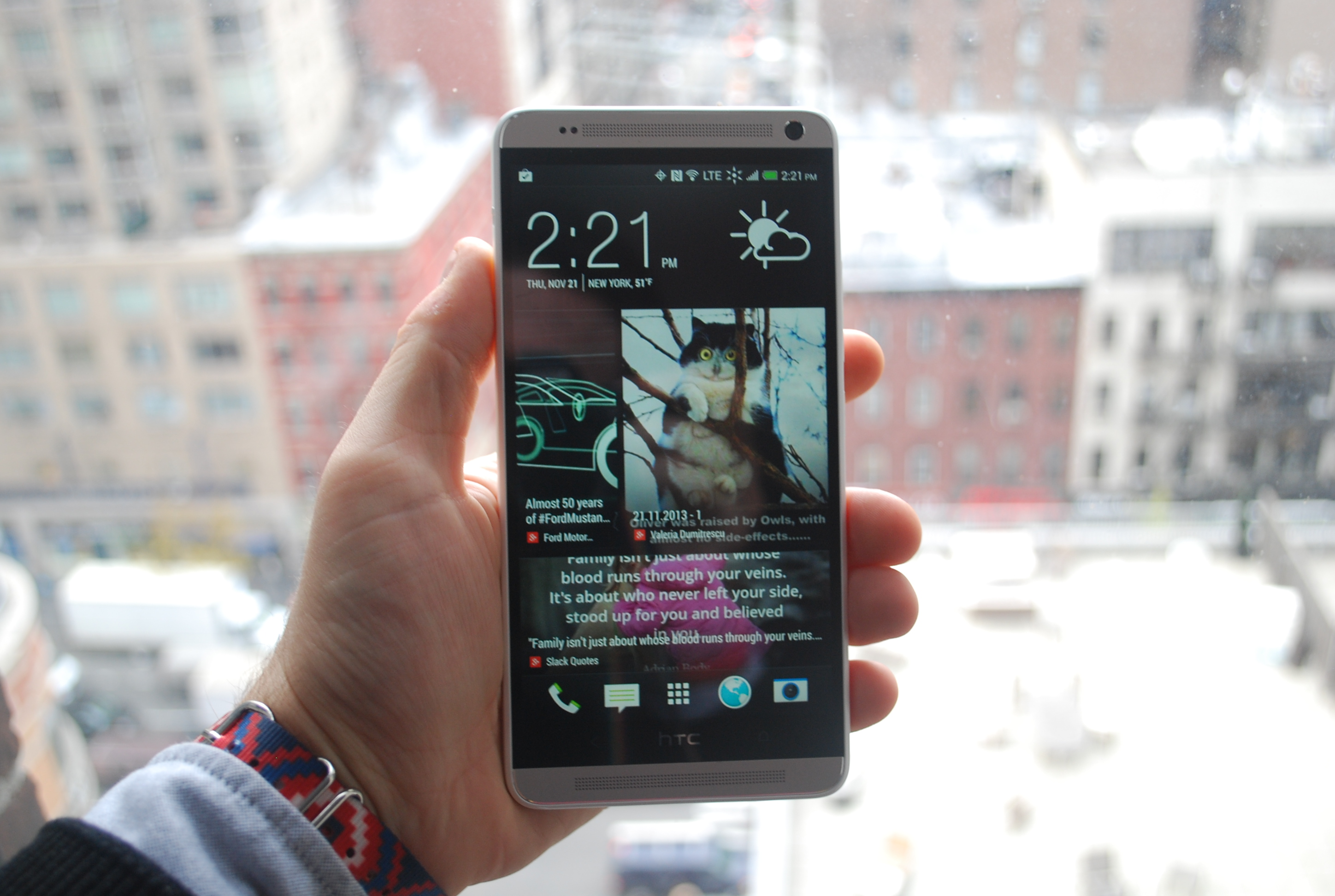 HTC One Max display