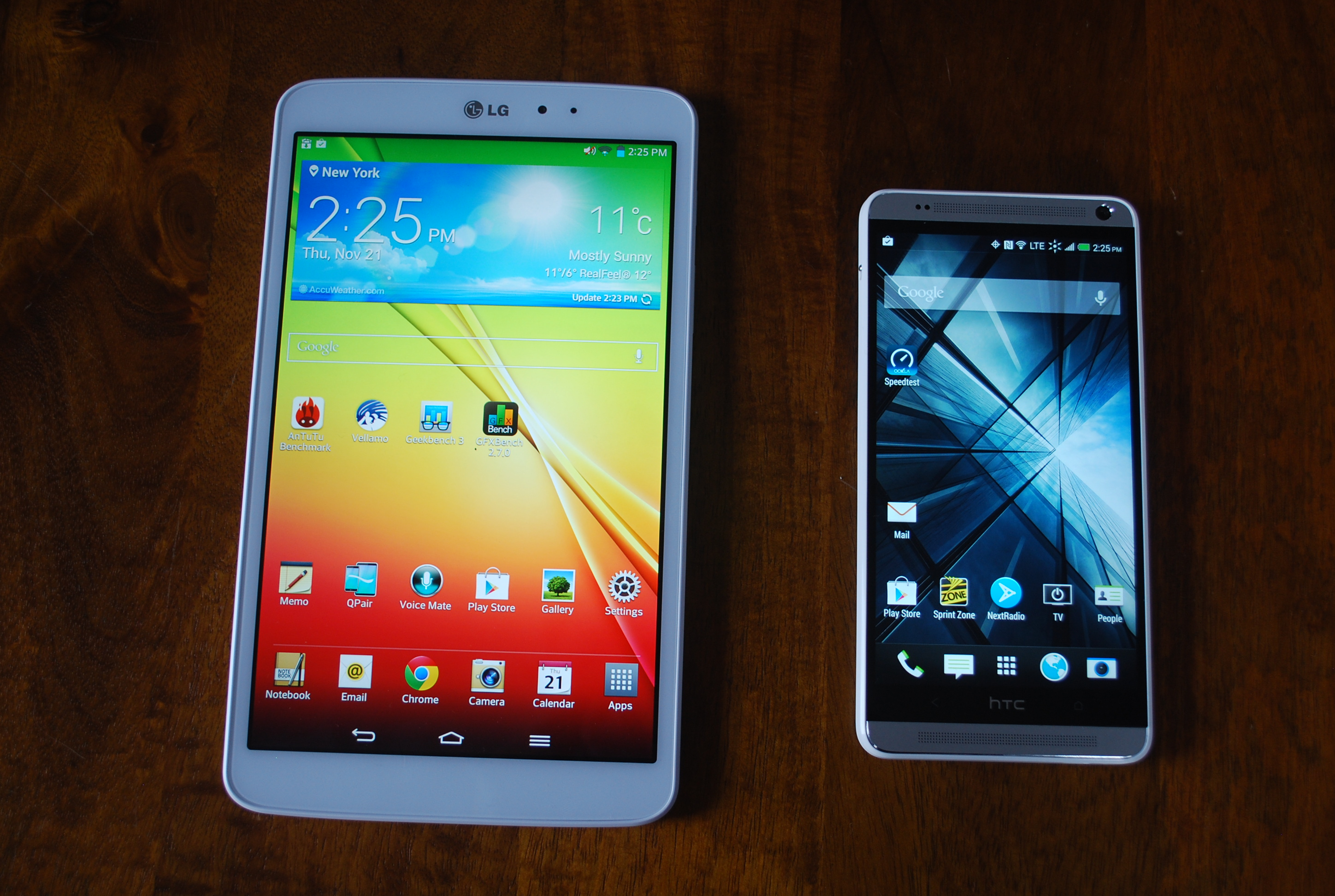HTC One Max vs tablet