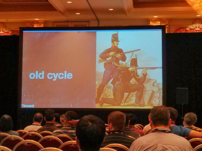 AWS is more about firing machine guns than loading muskets.