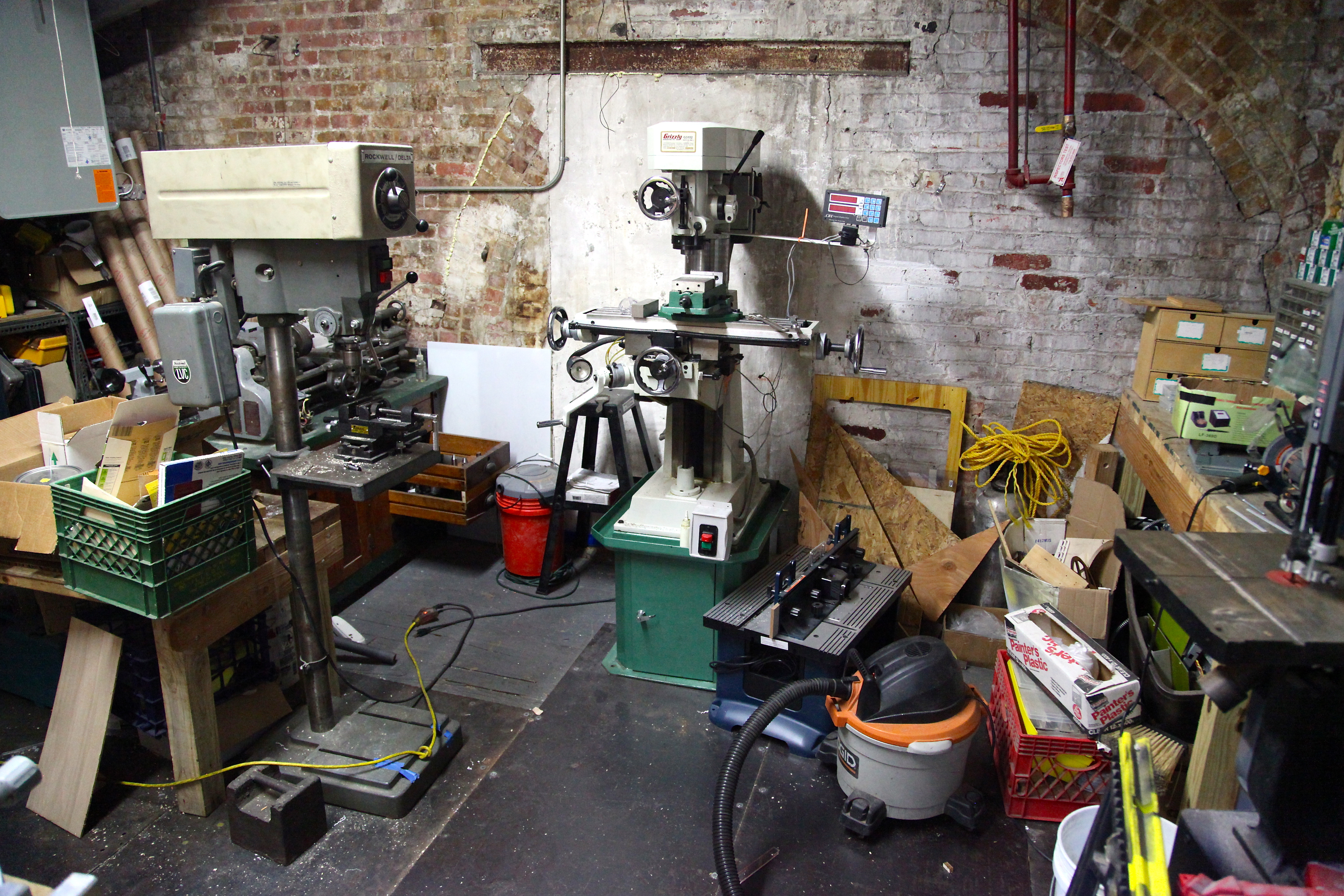 The NYC Resistor woodshop. Photo by Signe Brewster.